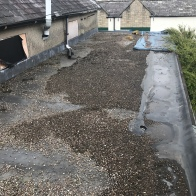 Failed Epdm flat roof